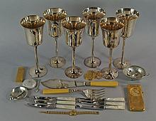 A miscellaneous collection of silver plate and virtu