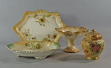 A Royal Worcester pot pourri vase and cover