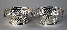 A pair of Edward VII silver openwork baskets