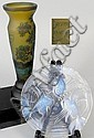 A Daum style cameo glass vase, 20th century, the