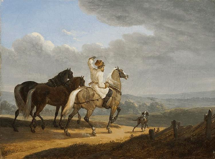 Swebach Jacques-Francois-Joseph de Fontàine (1769-1823) Coachman with remount