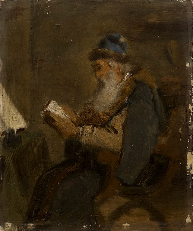 Pelevin Ivan Andreevitch (1840-1917) Boyarin reading book