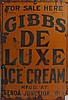 Gibbs De Luxe Ice Cream Sign