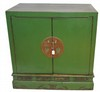 Antique Green Chinese Chest 35x35