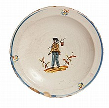 PLATE FROM BANYOLES 18th-19th CENTURY