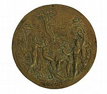 ITALIAN SCHOOL 17th CENTURY Placa en bronce