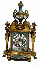 FRENCH CLOCK 19th CENTURY En bronce dorado y