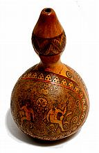 MEXICAN SCHOOL 19th CENTURY Calabaza grabada con