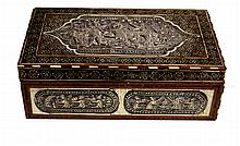 ANGLO-INDIAN CHEST 19th CENTURY en madera, plata