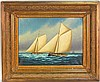 KURT URION OIL PAINTING 2 SAILBOATS