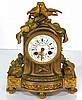 FRENCH BRONZE SHELF CLOCK w/ LOVE BIRDS