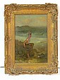 19th c. PAINTING YOUNG BOY signed J.R.
