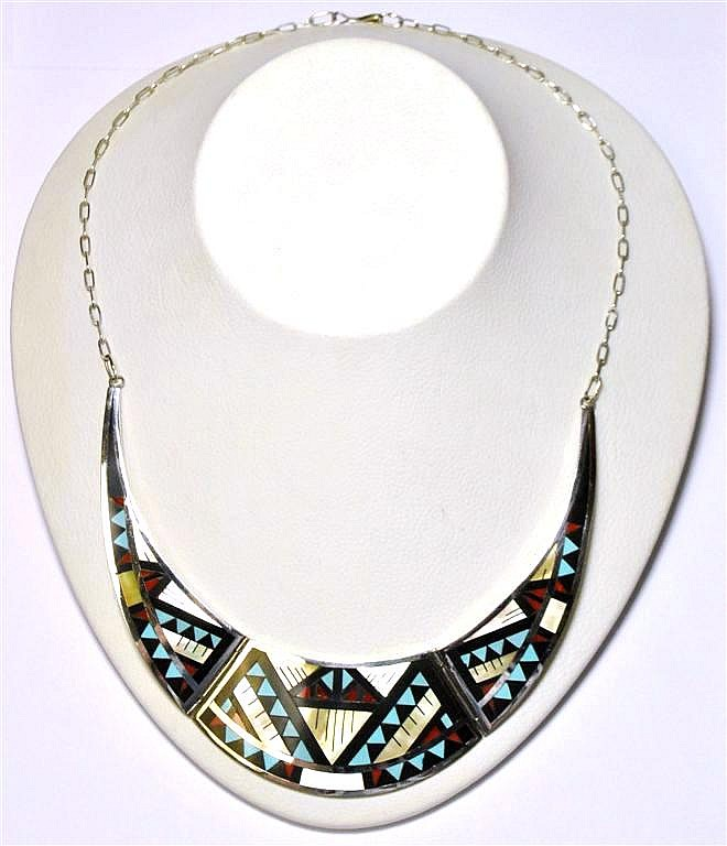 Zuni Multi-Stone Inlay Necklace - Marylita Boone