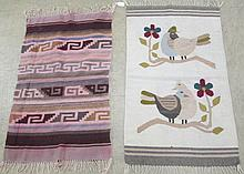 LOT OF 2 ZAPOTEC MEXICAN INDIAN RUGS