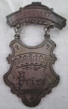 1890 DEMOREST STERLING PRIZE MEDAL FOR PROHIBITION