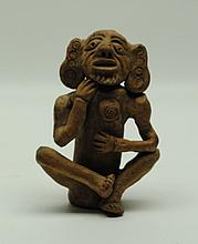 Pre-Columbian Earthenware Figural Effigy