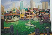 Impressionist Coastal Scene signed Freidrick