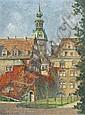 G. Schneidenbach, Blick auf den Dresdner Hausmannsturm. Wohl 1920's.