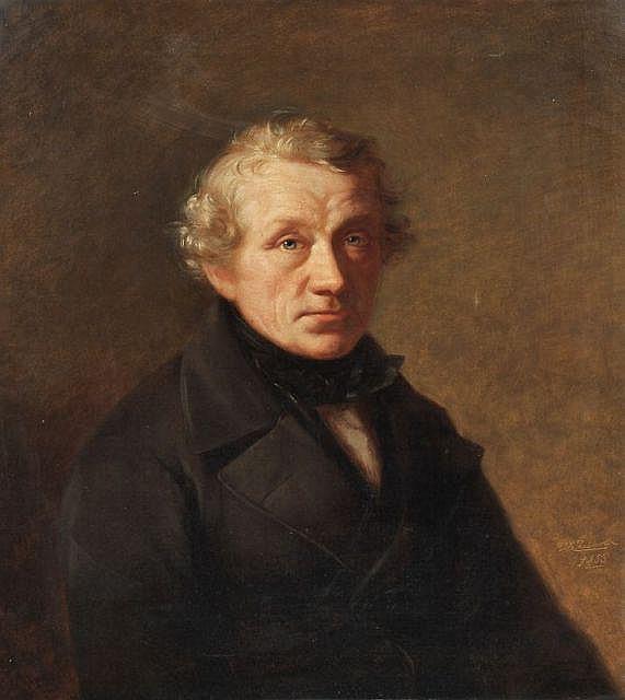 Wilhelm Karl Juncker, Portrait eines Herren. 1853.