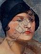 Otto Nückel, Frau mit schwarzem Hut. Um 1920.