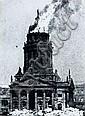 Hein Gorny, Französischer Dom am Gendarmenmarkt in Brand. 1945.