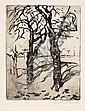 Robert Hahn, Zwei Portraits und zwei Landschaftsdarstellungen. 1918 - 1928.