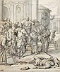 Matthias Scheits, Tod des Ananias (Apg 4,34). Um 1672.