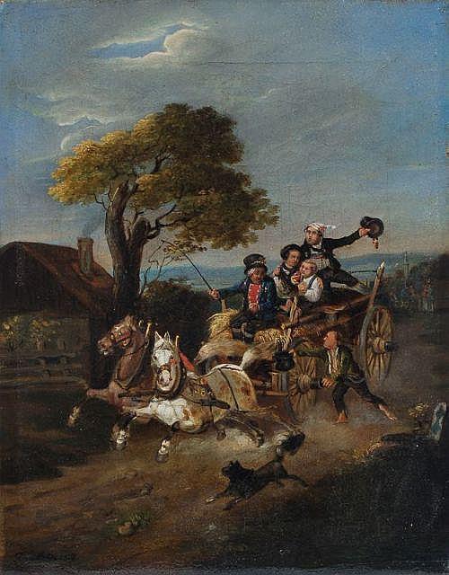 Simon Fruth(zugeschr.), Wilde Fahrt. 1837.