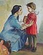 Eva Schulze-Knabe(zugeschr.), Mutter und Kind im Gespräch. 2nd half 20th cent.