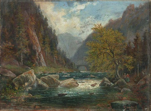 Franz Wilhelm Leuteritz, Partie im Rabenauer Grund. 1898.