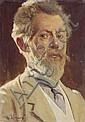 Wilhelm Carl August Zimmer, Portrait eines Herren. 1917.