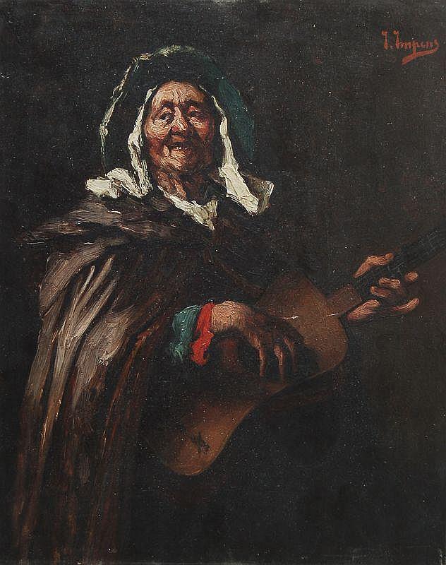 Josse Impens, Der Lautenspieler. 1870's.