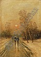 Heinz F. Esser, Winterspaziergang. 1st half 20th cent.