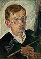 Hubert Rüther, Portrait des Malers Conrad Felixmüllers (?). 1919.