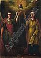 Unbekannter Künstler, Ikone mit Hl. Michael und Hl. Barbara. Wohl 17th cent.