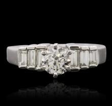 Platinum 1.14ctw Brilliant Cut Diamond Ring