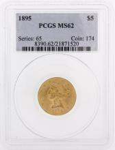 1895 PCGS MS62 $5 Liberty Head Half Eagle Coin