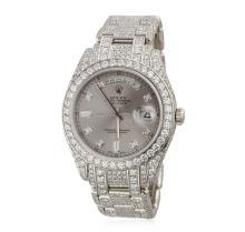 Gents Rolex Platinum DayDate Masterpiece Style Diamond Wristwatch