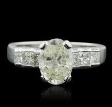 Platinum 2.81ctw Oval Cut Diamond Ring