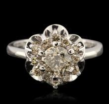 14KT White Gold 3.44ctw Diamond Jewelry Suite