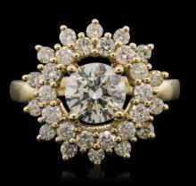 14KT Yellow Gold 2.86ctw Diamond Ring