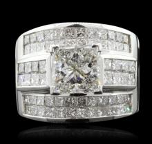 18KT White Gold 6.19ctw Diamond Ring
