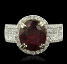 14KT Two-Tone Gold 5.43ct Ruby and Diamond Ring