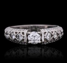 14KT White Gold 1.14ctw Diamond Ring