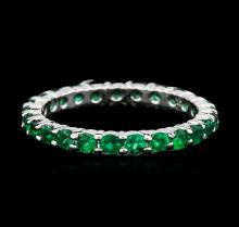 14KT White Gold 2.88ctw Emerald Ring