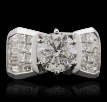18KT White Gold 4.16ctw Diamond Ring