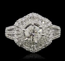 14KT White Gold 1.72ctw Diamond Ring