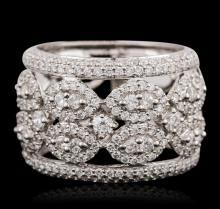 18KT White Gold 1.48ctw Diamond Ring