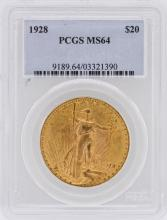 1928 PCGS MS64 $20 Double Eagle St. Gaudens Gold Coin