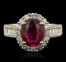 14KT Yellow Gold 1.90ct Ruby and Diamond Ring
